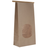 Kraft Window Bakery Tie Bags