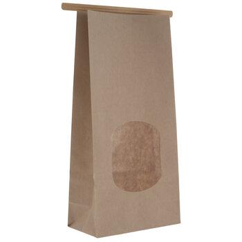 Kraft Window Bakery Tie Bags