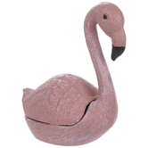 Pink Flamingo Metal Container