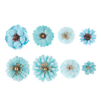 Layered Assorted Paper Flower Embellishments