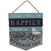 Happier Than A Seagull Wood Wall Decor