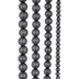 Matte Gray Glass Pearl Bead Strands