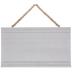 White Beveled Beaded Wood Wall Decor