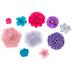 Purple, Turquoise & Pink Flower Embellishments