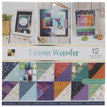 """Ocean Wonder Paper Pack - 12"""" x 12"""""""