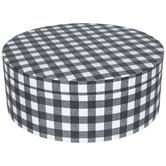 Black & White Buffalo Check Round Box