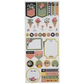 Floral Planner Foil Stickers