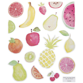 Watercolor Fruit Stickers