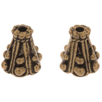 Metal Bead Cones - 8mm x 9mm