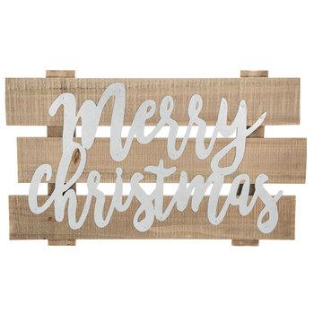 Merry Christmas Wood Plank Wall Decor