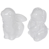 White Bunny Salt & Pepper Shakers