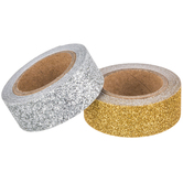 Gold & Silver Glitter Washi Tape