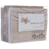 Wood & Lights Wedding Thank You Notes