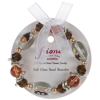 Autumn Animals Glass Bead Bracelet