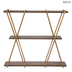 Art Deco Three-Tiered Wood Wall Shelf