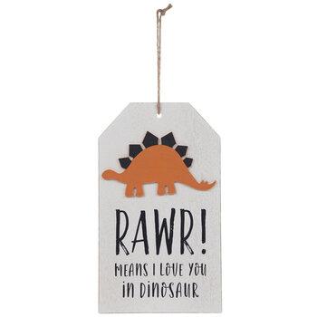 Rawr Means I Love You Dinosaur Wood Wall Decor