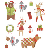 Christmas Forest Animal Stickers