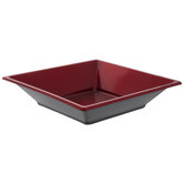 Red Metallic Square Bowls