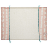 White, Pink & Blue Geometric Placemat