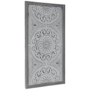 Whitewash Medallion Metal Wall Decor