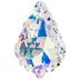 Crystal Aurora Borealis Baroque Pendant - 22mm x 15mm