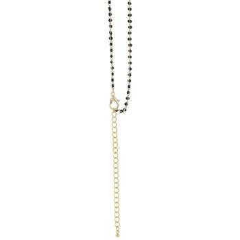 "Enamel Beaded Chain Necklace - 18"""