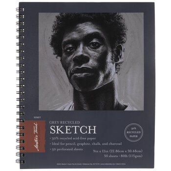 """Recycled Sketch Paper Pad - 9"""" x 12"""""""
