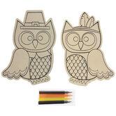 Thanksgiving Owls Wood Craft Kit
