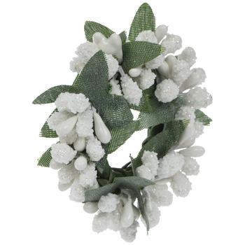 Miniature White Winter Wreath