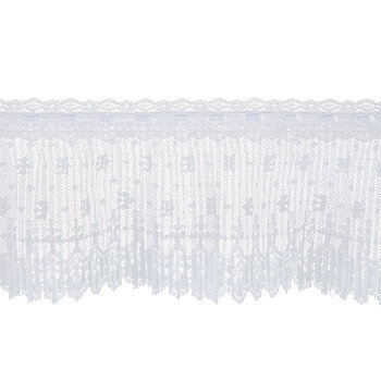 White Pleated Lace Trim - 4 1/2""