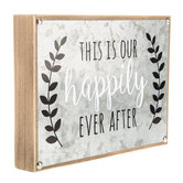 This Is Our Happily Ever After Wood Wall Decor