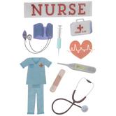 Nurse 3D Stickers