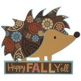 Happy Fall Y'all Hedgehog Wood Wall Decor