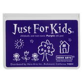 Purple Just For Kids Ink Pad