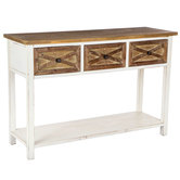 Sofa Table with Barn Door Drawers