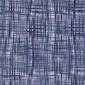 Navy Crosshatch Cotton Calico Fabric