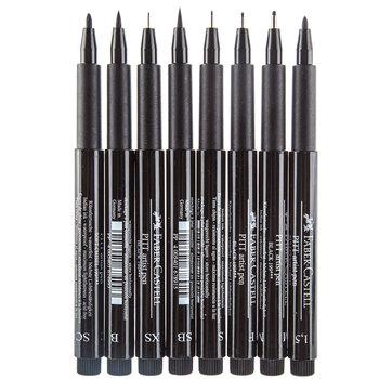 Black Faber-Castell PITT Artist Pens - 8 Piece Set