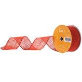 "Burnt Orange Burlap Ribbon - 2 1/2"""