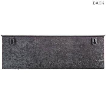Gray Distressed Metal Wall Organizer