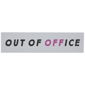 Out Of Office Wood Wall Decor