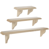 Wood Wall Shelves Set