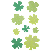 Four-Leaf Clover Gel Window Clings