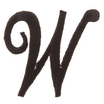 Black Letter Iron-On Applique - W