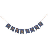 Blue & Copper Thankful Pennant Banner