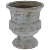 Distressed Pastel Blue Vase