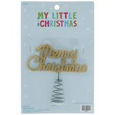 Gold Merry Christmas Mini Tree Topper