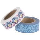Blue & White Boho Washi Tape