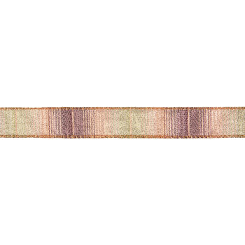 """Orange Ombre Sheer Wired Edge Ribbon - 7/8"""""""