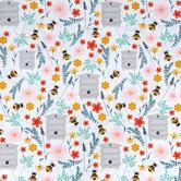Bee Happy Cotton Calico Fabric