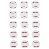 Baseball Glitter Stickers